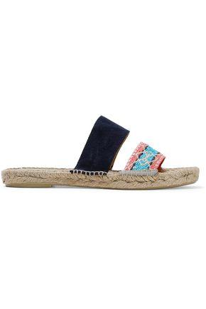 Manebi ManebÍ Woman Jacquard And Suede Espadrille Slides Black