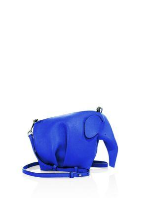 a58bb1f8f Loewe Mini Leather Elephant Crossbody Bag In Electric Blue | ModeSens