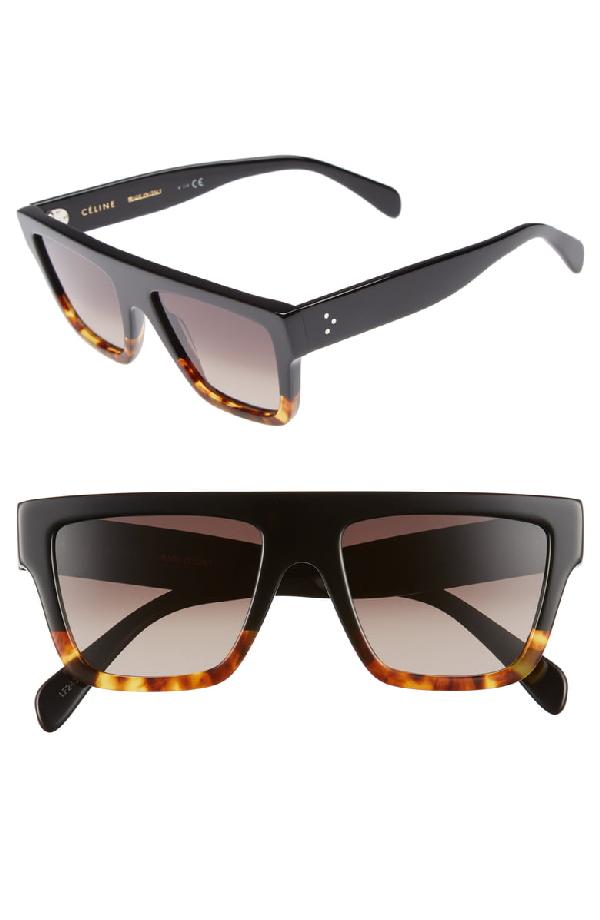 4d93e3a4523a Celine 59Mm Square Sunglasses - Black/ Havana/ Smoke | ModeSens