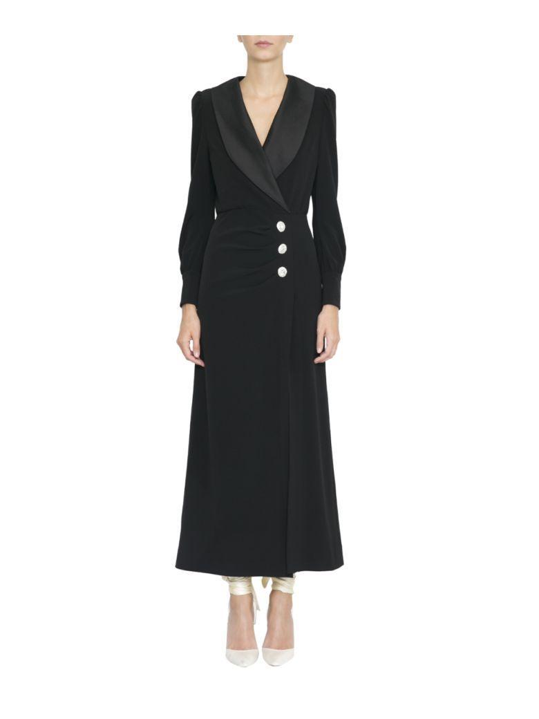 Alessandra Rich SablÉ Dress In Nero