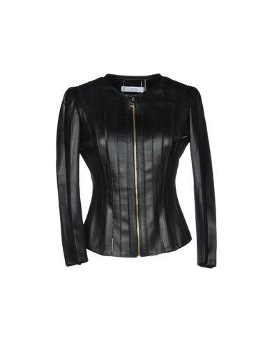 Versace Classic Leather Jacket In Black