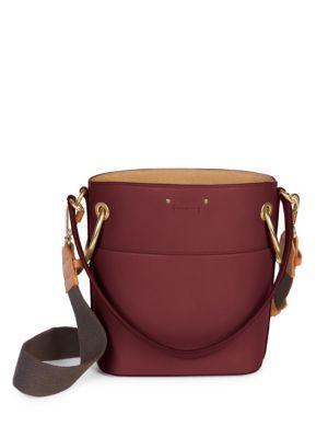 e7142ace61 ChloÉ Roy Medium Leather Bucket Bag In Pink