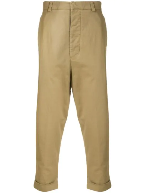 Ami Alexandre Mattiussi Oversized Carrot Fit Trousers In 250 Beige
