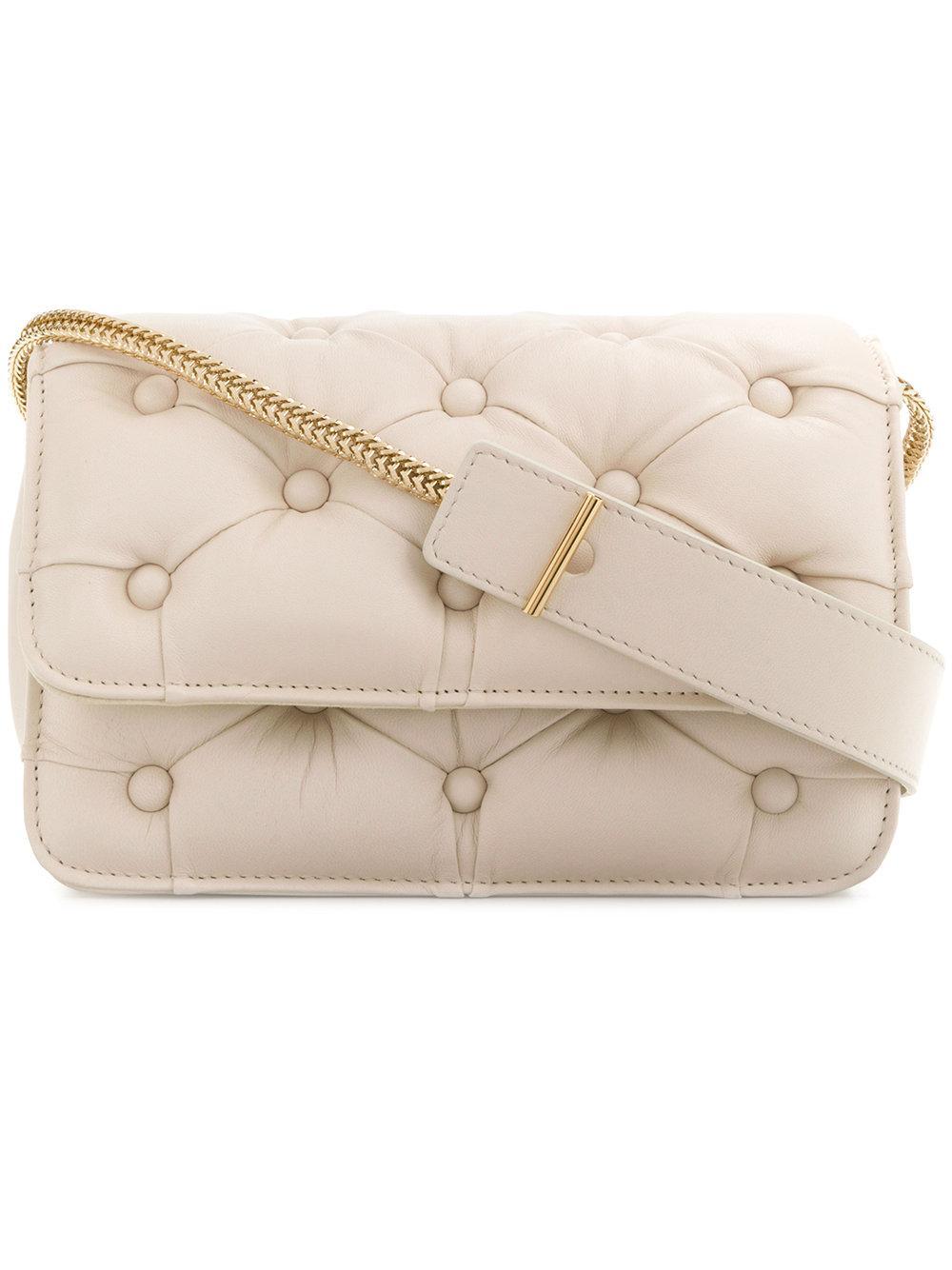 Benedetta Bruzziches Pintucked Shoulder Bag