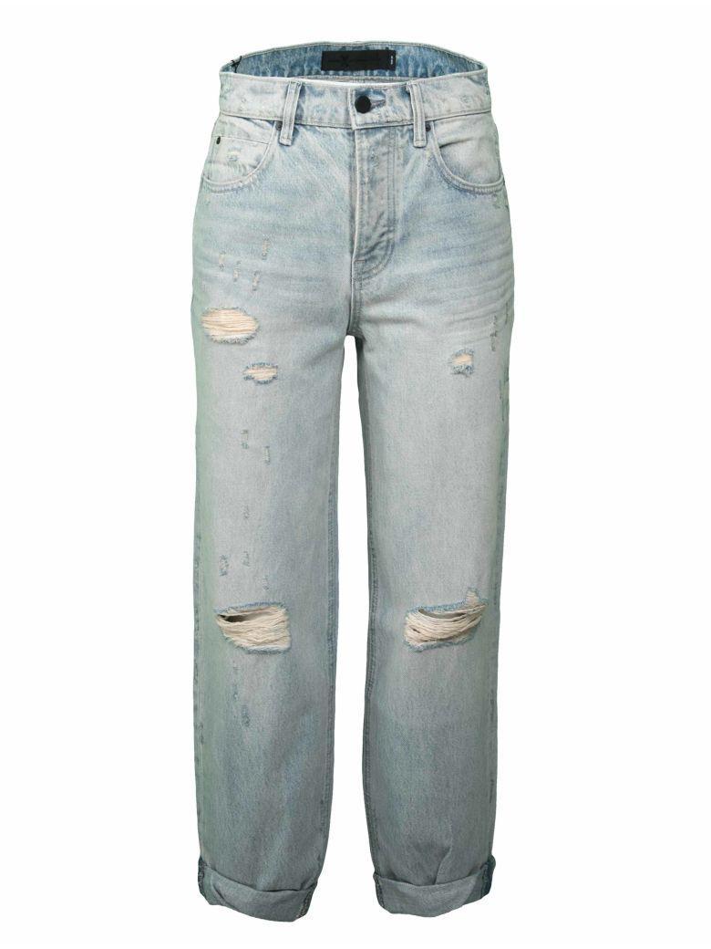 T By Alexander Wang Distressed Jeans In Vintage Bleach