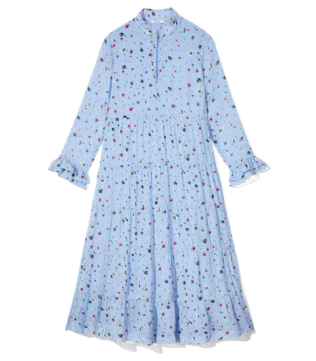 5832cb46cda0 Ganni Dainty Georgette Dress In Serenity Blue | ModeSens