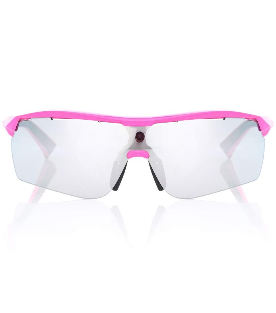 84d66ee908cc Stella Mccartney Turbo Wrap Rectangle-Frame Sunglasses In Pink ...
