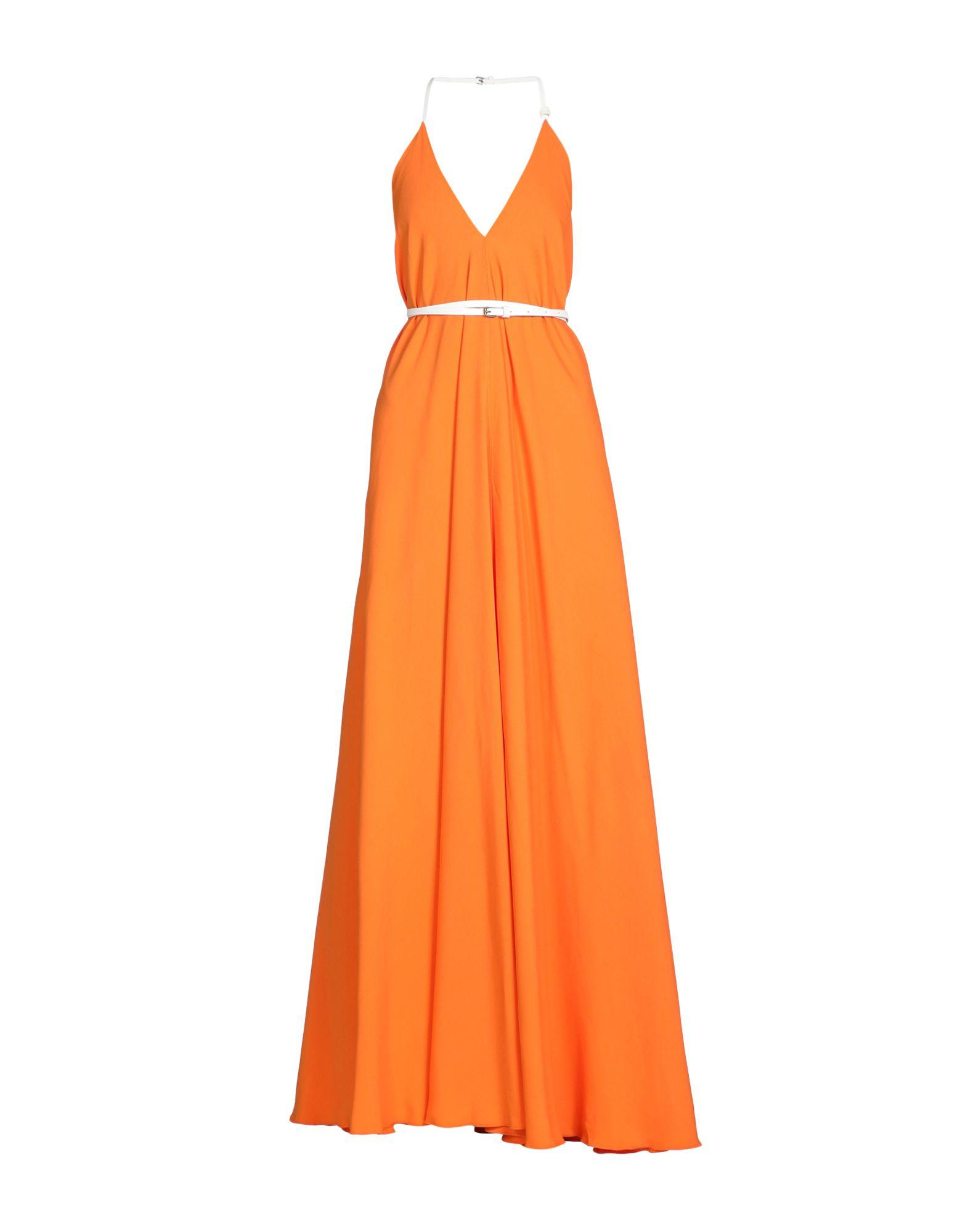 Victoria Beckham Midi Dress In Orange