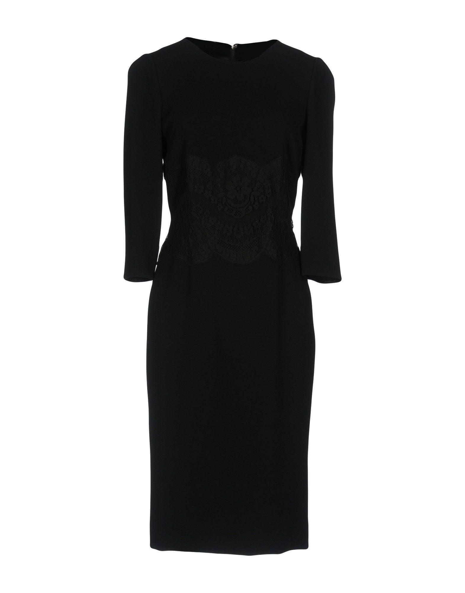 Dolce & Gabbana Knee-Length Dresses In Black