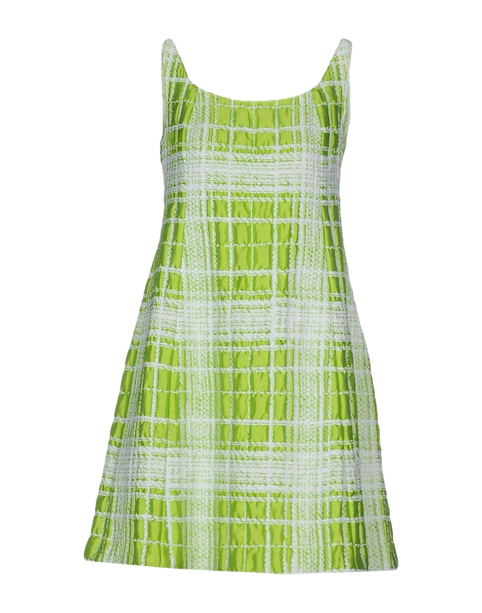 Moschino Cheap And Chic Short Dress In Acid Green