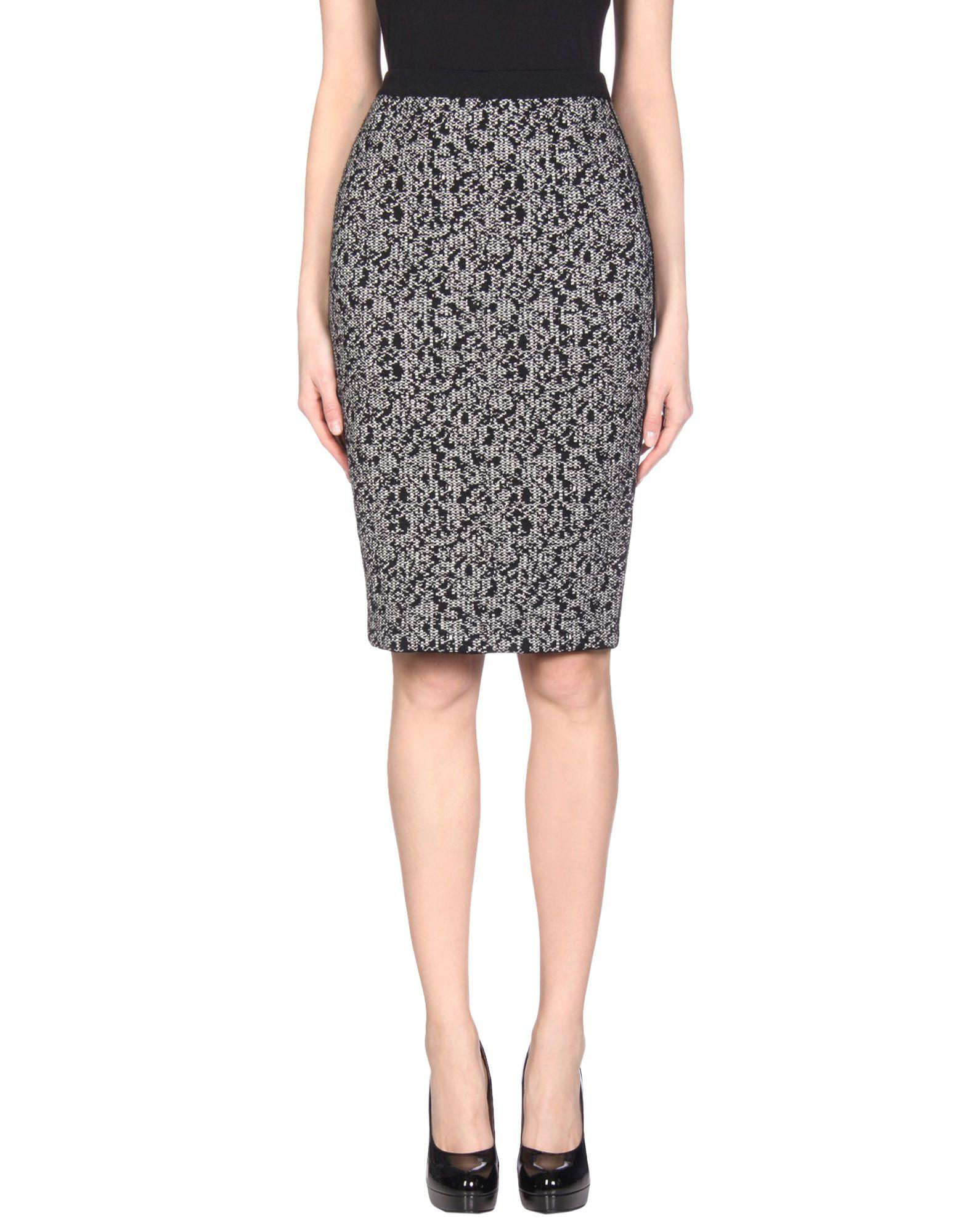 Oscar De La Renta Knee Length Skirt In Black