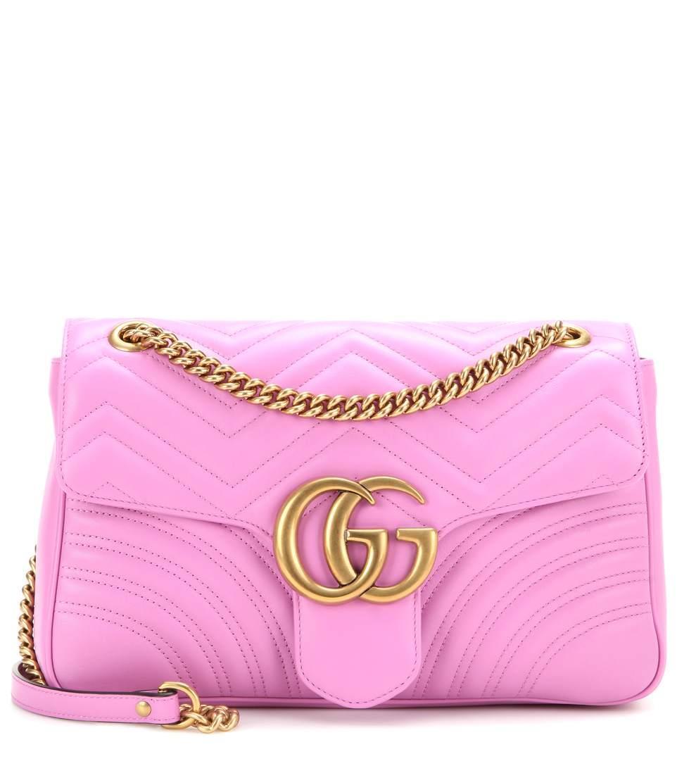 6276f20cbd3965 Gucci Gg Marmont Medium MatelassÉ Leather Shoulder Bag In Pink ...