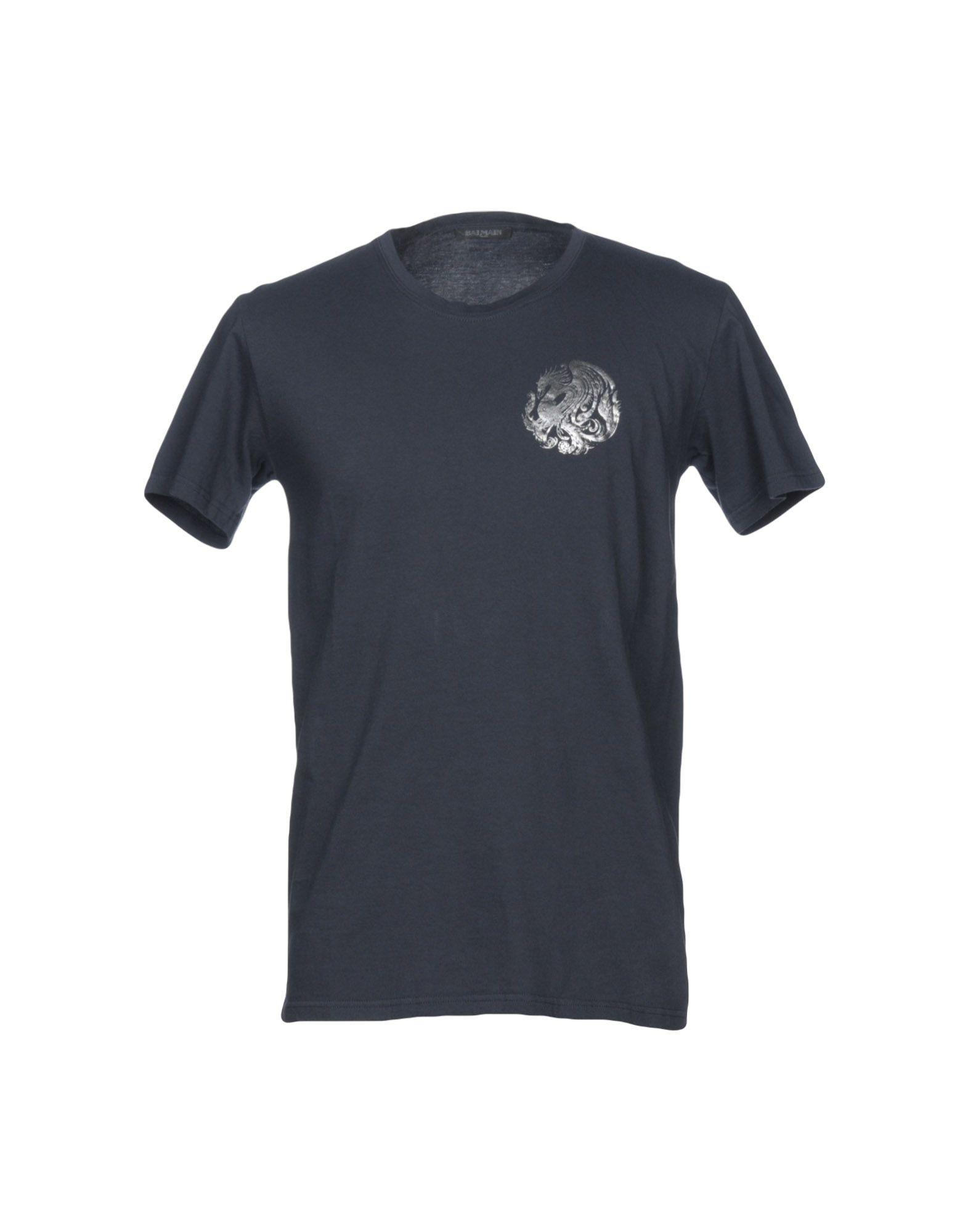 130041ab Balmain T-Shirts In Dark Blue | ModeSens