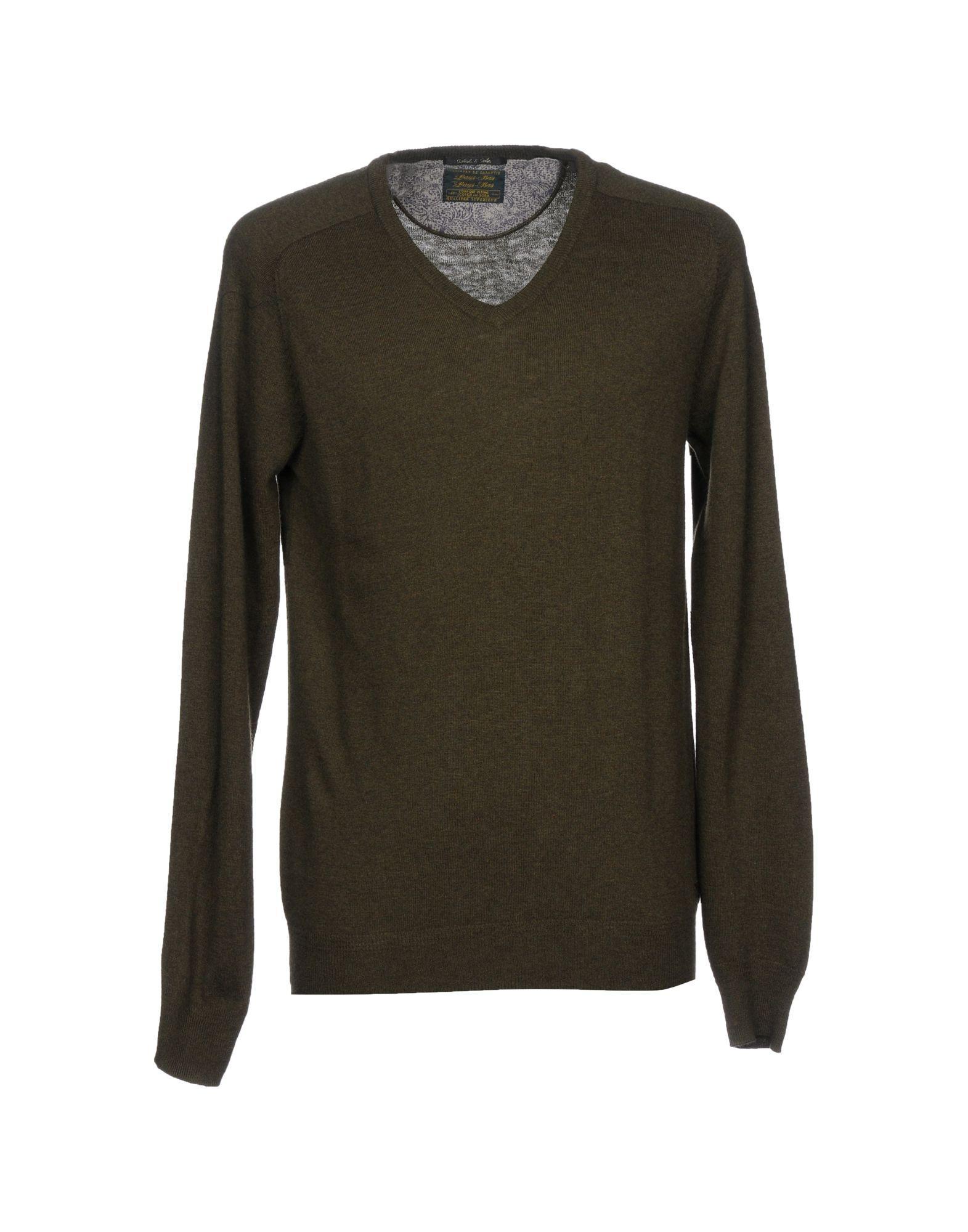 Scotch & Soda Sweater In Military Green