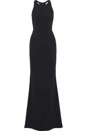 Marchesa Notte Woman Fluted Twill Gown Black
