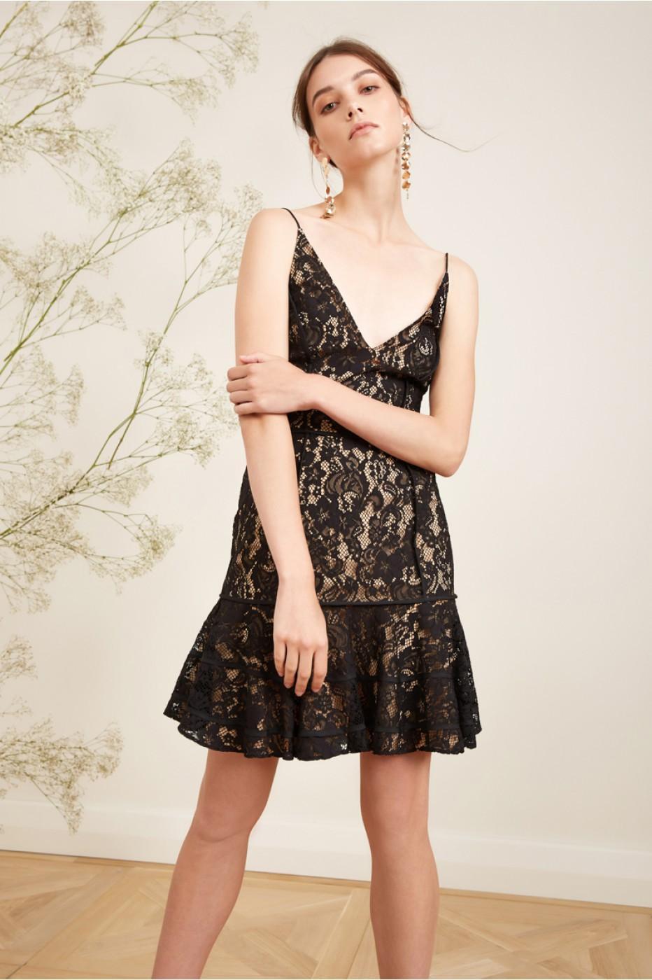 01aba55016ce2 Keepsake Dreamers Lace Dress In Black | ModeSens