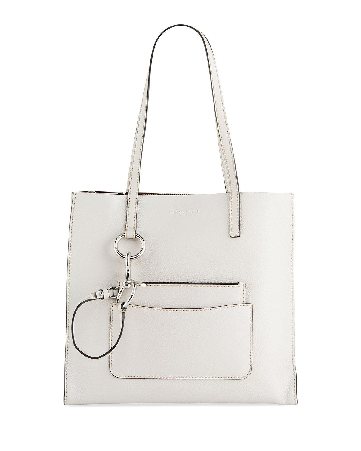 2365968f18fc Marc Jacobs The Bold Grind Pebbled Shopper Tote Bag In Ivory