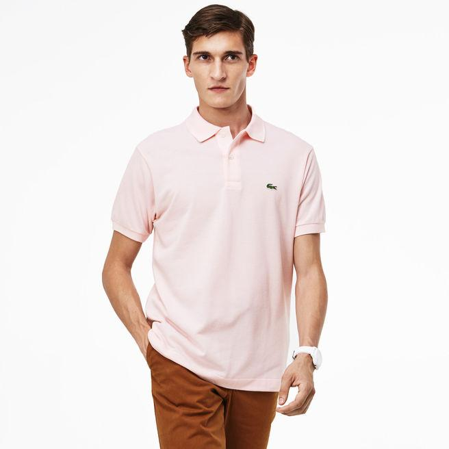 01967ccea515 Lacoste Men's Petit PiquÉ Slim Fit Polo Shirt In Light Pink | ModeSens