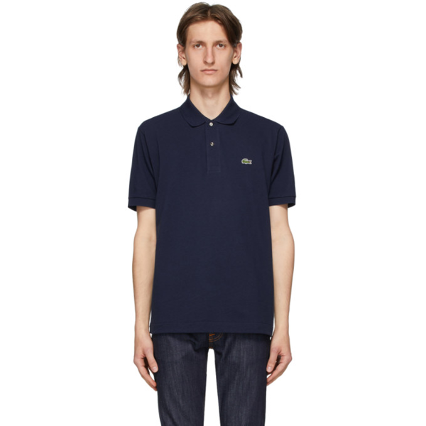 Lacoste Long-sleeve Classic Fit L.12.12 Polo In 166 Navy