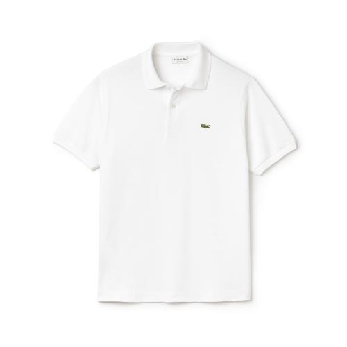 Lacoste Men's Regular Fit Pima Cotton Interlock Polo In White