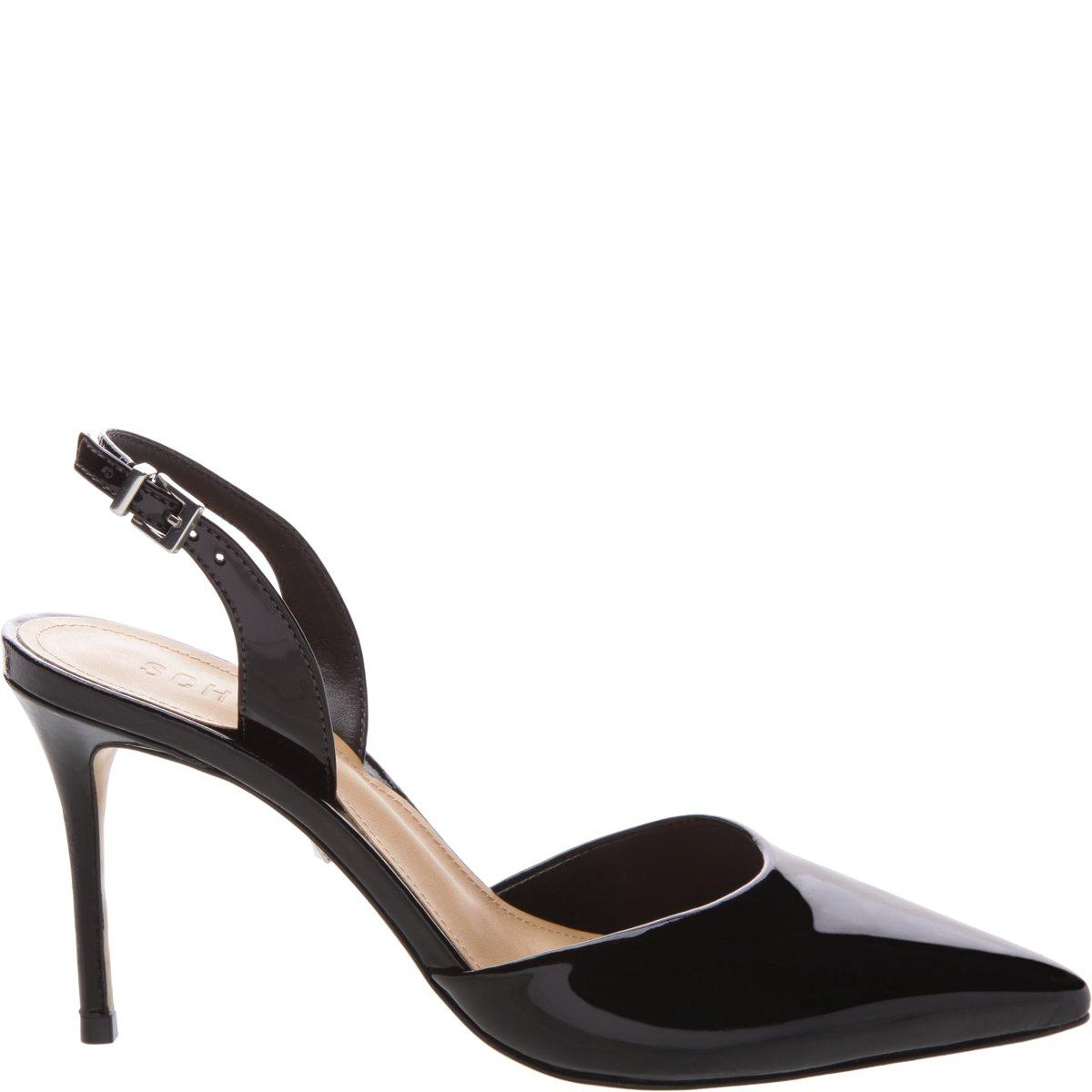 71cad2dd2d2 FINAL SALE - MAY NOT BE RETURNED OR EXCHANGED Elevate your look with the  these extra chic slingback pumps. Featured in black patent leather