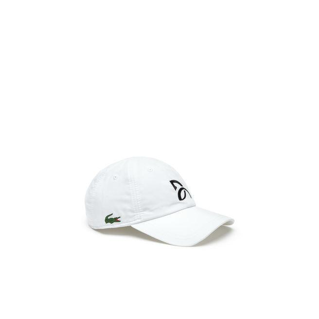 6f5cd5c7286 Lacoste Men's Sport Tennis Microfiber Cap - Support With Style Collection  For Novak Djokovic In White