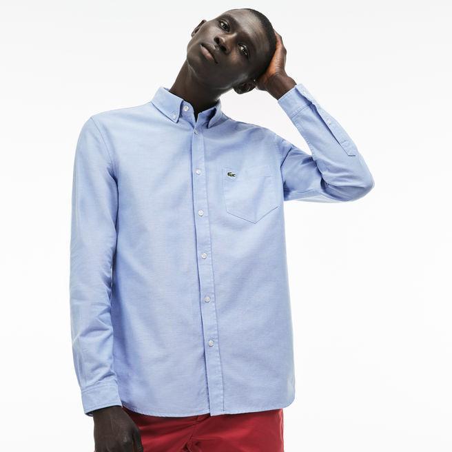 c8fd3152 Men's Regular Fit Cotton Oxford Shirt in Light Blue