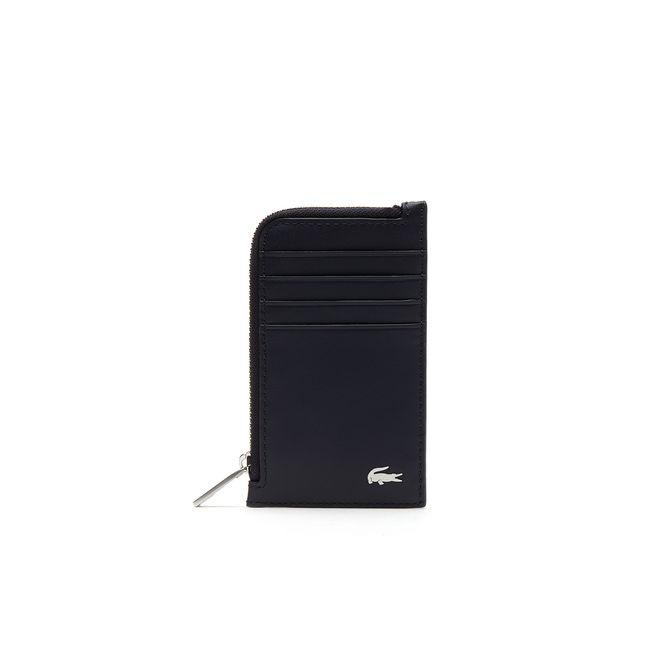 9799abecc7 Lacoste Men's Fitzgerald Leather Card Holder In Peacoat | ModeSens