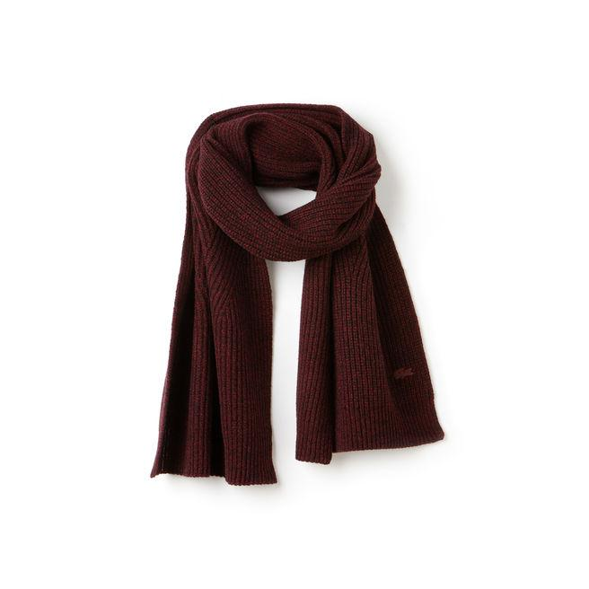 f8dcb824324d Lacoste Women s Ribbed Wool Scarf In Red