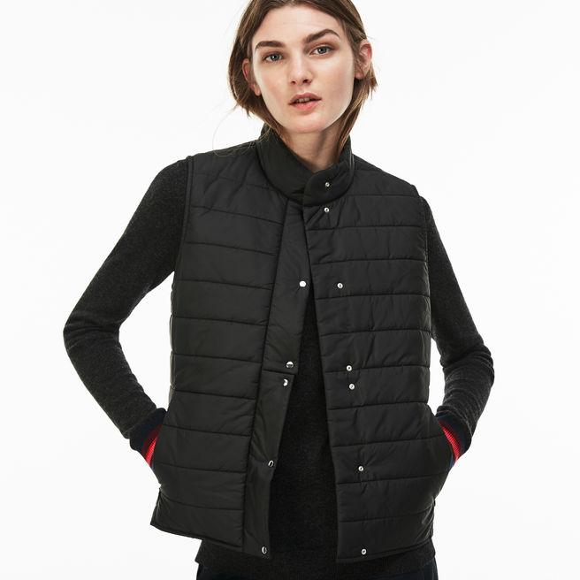 f3f52feb1bc3 Lacoste Women s Lightweight Quilted Down Taffeta Vest In Black ...