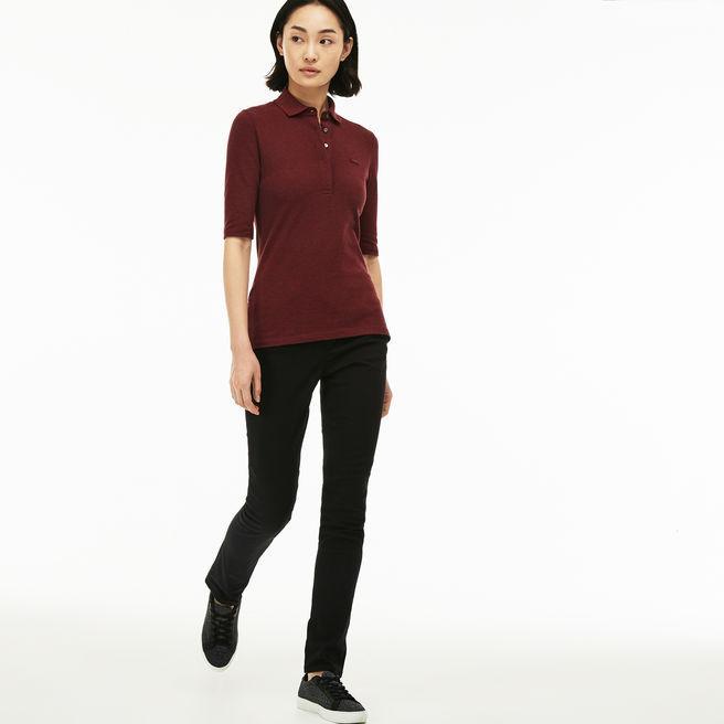 12f52105 Women's Slim Fit Stretch Cotton Denim Jeans in Black