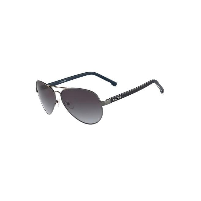 Lacoste Unisex Pilot Shape L.12.12 Sunglasses In Grey