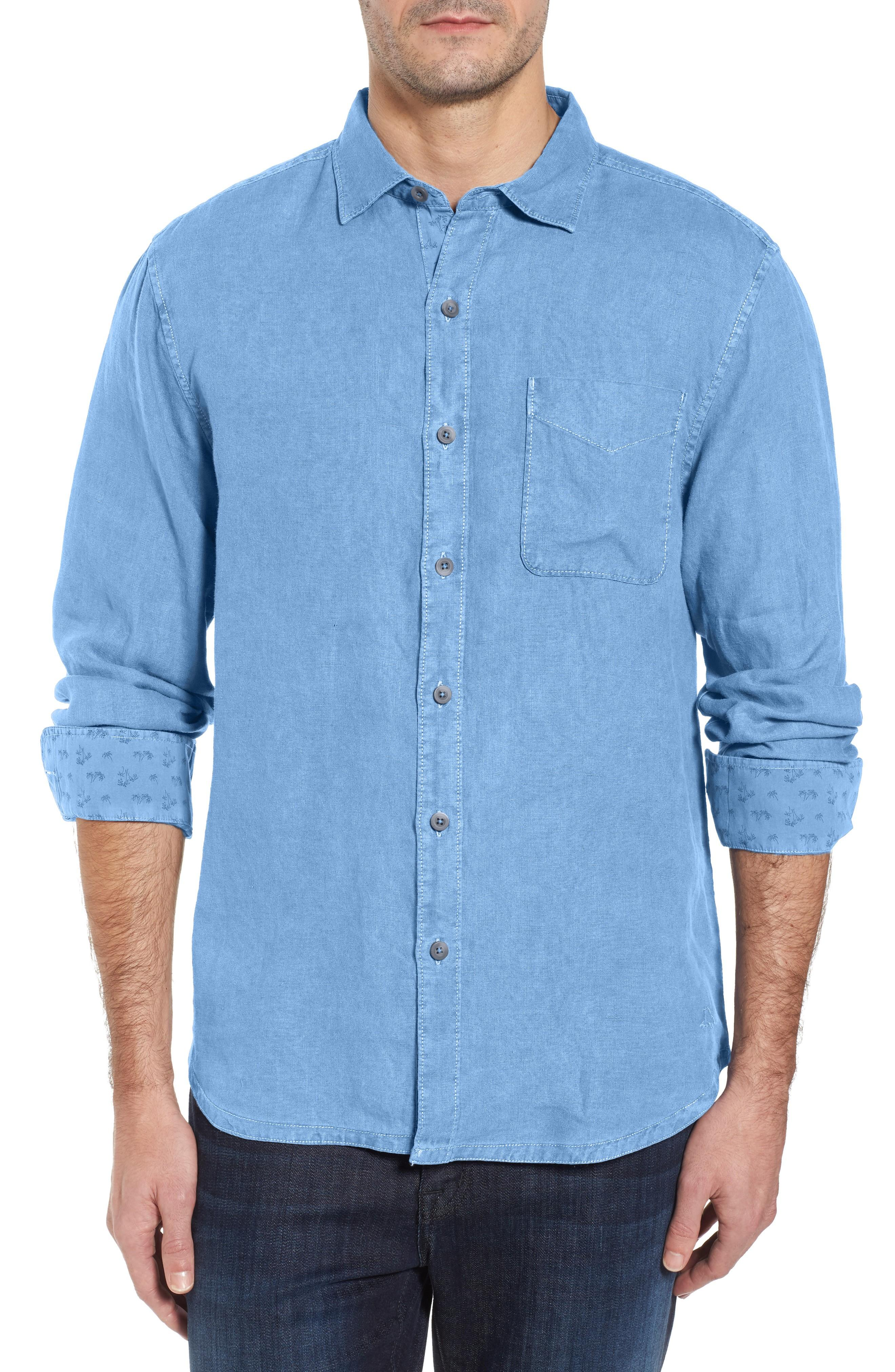 3b2b8e7d Tommy Bahama Seaspray Breezer Linen Shirt In Blue Yonder | ModeSens