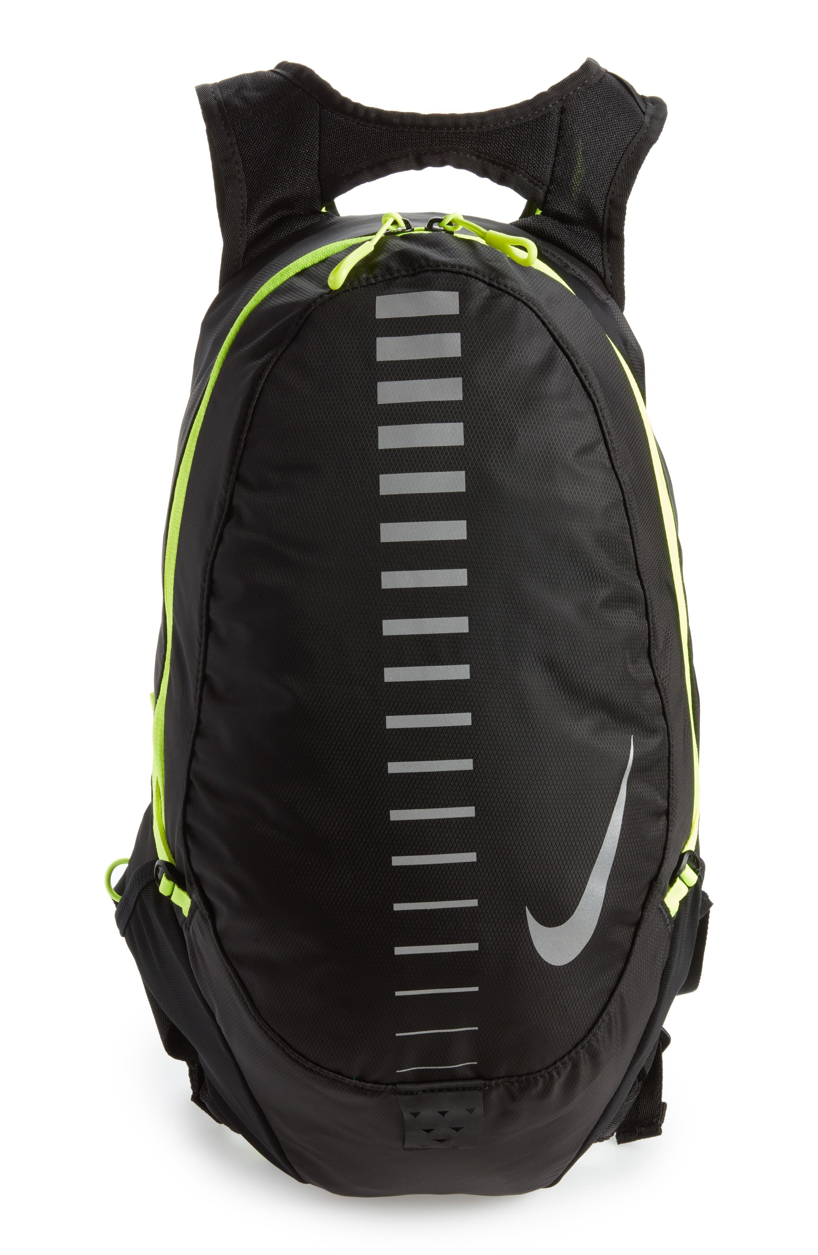 52098b37455 Nike Run Commuter Backpack - Black In Black/ Volt/ Silver | ModeSens
