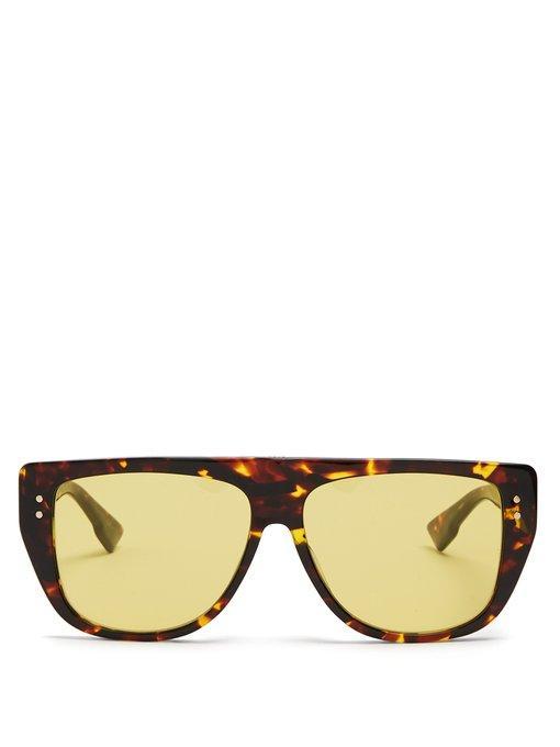 b2eada492c Dior Club2 D-Frame Acetate Sunglasses In Yellow