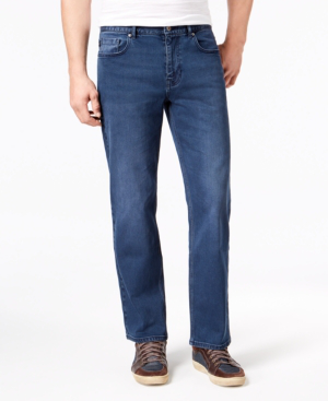 Dkny Men's Rivington Relaxed Straight-Fit Stretch Jeans, Created For Macy's In Varsity Blue