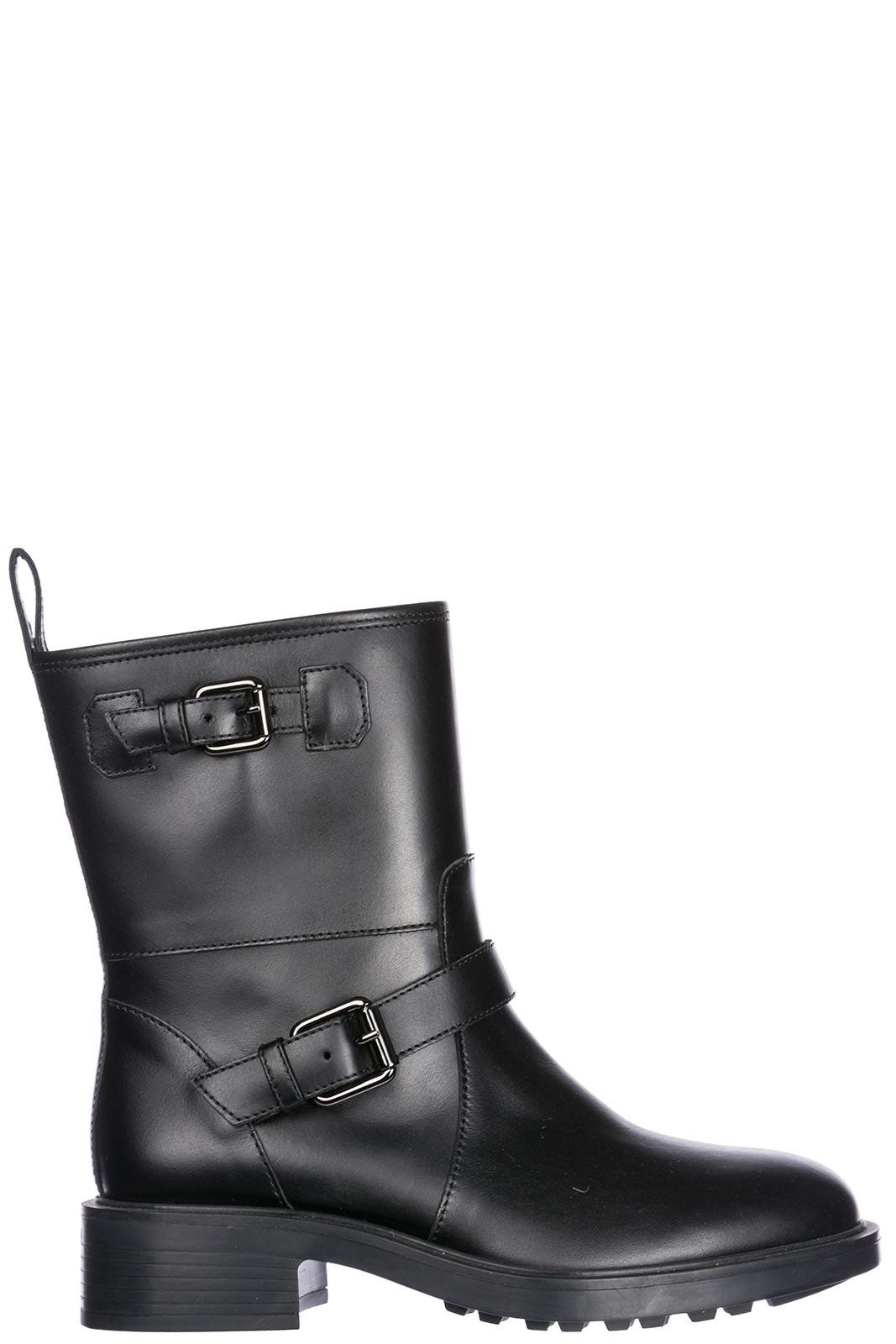 Hogan Women's Leather Ankle Boots Booties In Black