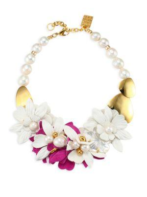 Lizzie Fortunato Wildflower Collar Necklace In Multi