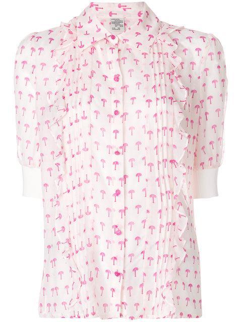 8f616d18c396 Baum Und Pferdgarten Palm Tree Print Shirt   ModeSens
