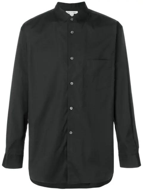 Comme Des GarÇOns Shirt Long-Sleeve Fitted Shirt - Black