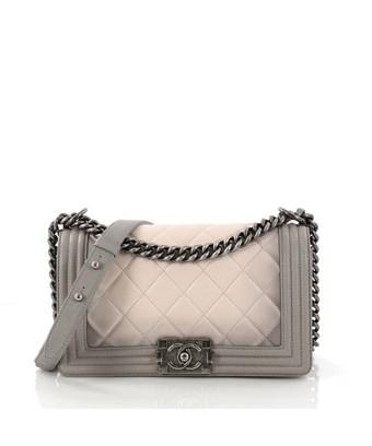 e1c69d6a1338 Chanel Pre-Owned: Boy Flap Bag Quilted Ombre Calfskin Old Medium In ...