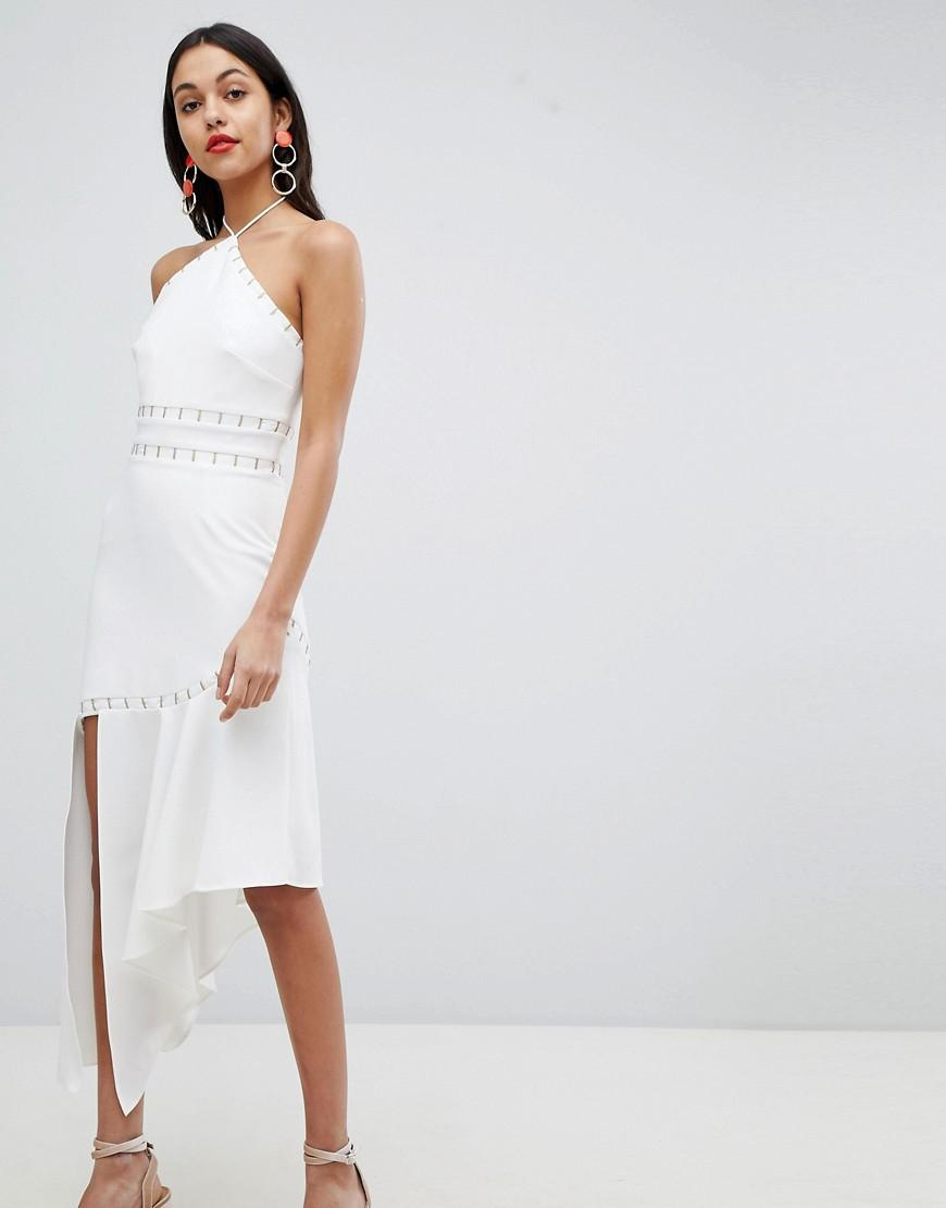 Finders Keepers Finders Halter Neck Asysmetric Dress - White