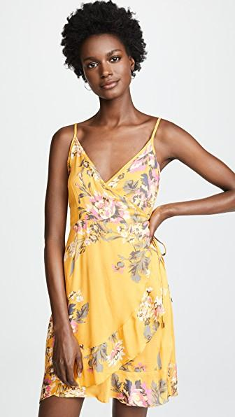 Minkpink Tokyo Wrap Dress In Multi