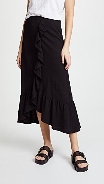 ca964c575 Wilt Long Flounce Skirt In Black | ModeSens