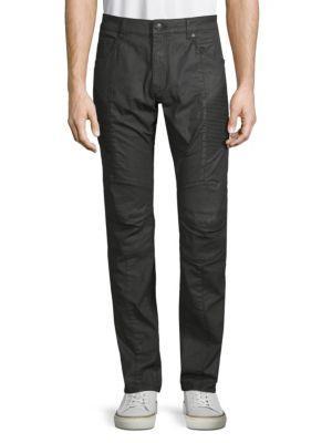Pierre Balmain Stretch Cotton Skinny Jeans In Black