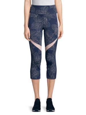 Calvin Klein Printed Cropped Leggings In Blush Combo