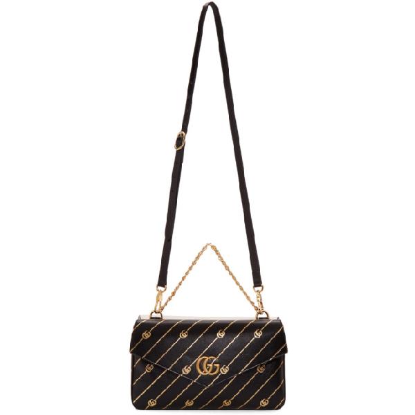 a223ddc3df63 Gucci Thiara Medium Double Envelope Shoulder Bag In 8419 Black ...