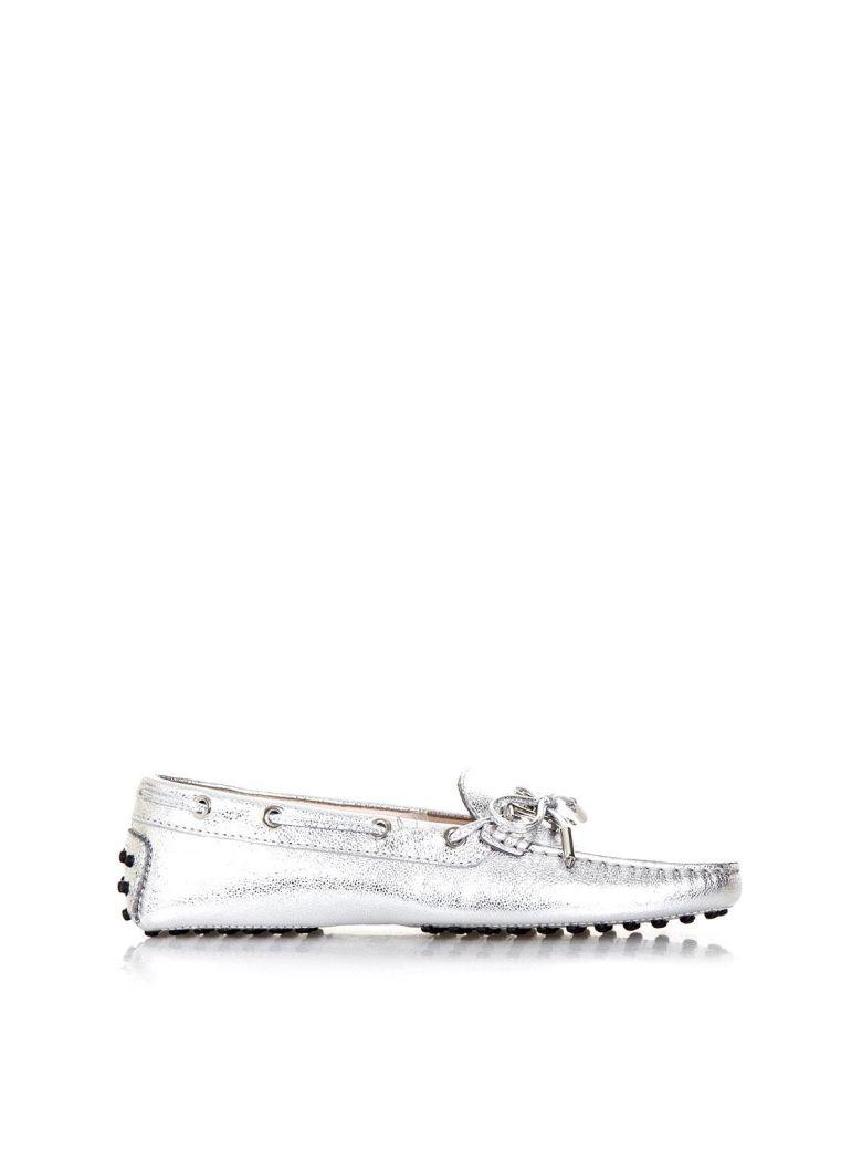Tod's Silver Leather Gommino Loafers