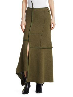 3.1 Phillip Lim Asymmetrical Seamed Patch Maxi Skirt In Army Green ... 3b42c5f74