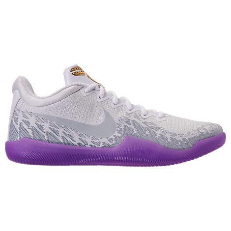 Men's Kobe Mamba Rage Basketball Shoes, White/purple